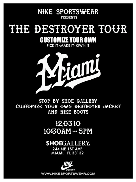 "Shoe Gallery ""Destroyer"" Event – Customize your own Jackets and Nike ... c8697d1651e5"